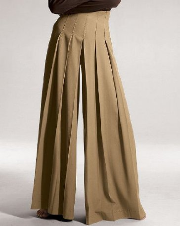 Spiegel Pleated Wide Leg Twill Pants